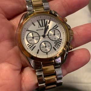Michael Kros two tone women's watch.